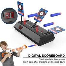 Новая цифровая мишень для стрельбы автоматический сброс и оценка имитация звука игрушечный пистолет мишень подходит для Nerf и Пейнтбольного пулевого пистолета