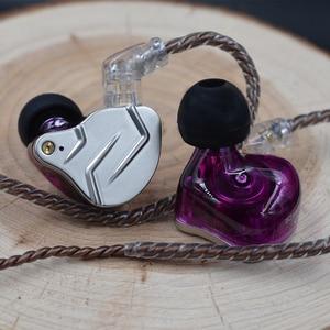 Image 5 - Newest KZ ZSN PRO 1BA+1DD Hybrid technology HIFI Metal In Ear Earphones Bass Earbud Sport Noise Cancelling Headset ZS10 PRO ZSX