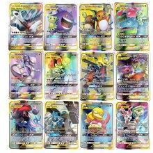 Лучшие продажи сияющие карты Pokemones игры битва карт 25 50 100 шт торговые карты игры Детские игрушки