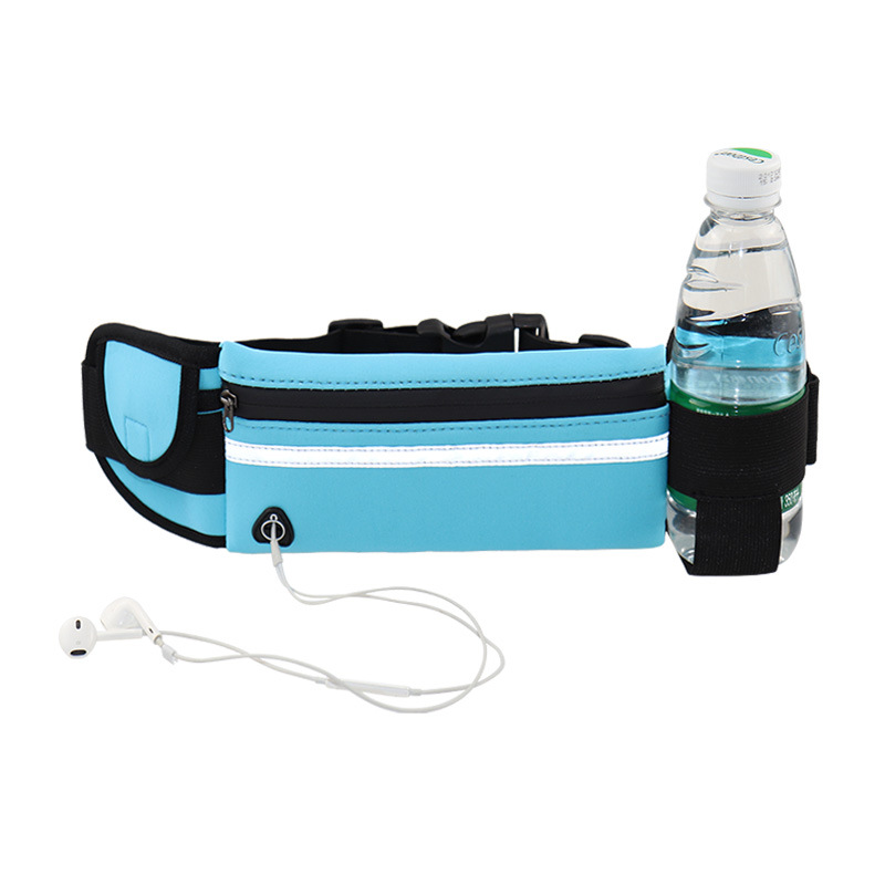 Travel multifunctional Sports pocket mini fanny pack for men women Portable convenient USB waist pack  waterproof phone belt bag 2