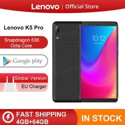 Original versión Global Lenovo K5 Pro 4GB RAM 64GB Snapdragon 636 Octa Core cuatro cámaras 5,99 pulgadas 4G LTE Smartphone