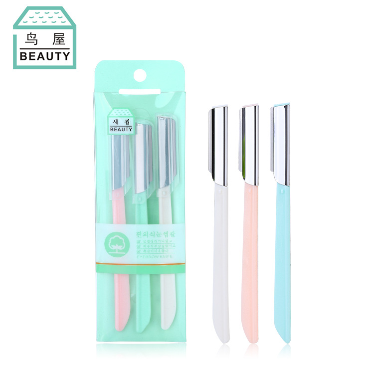 Stainless Steel Eyebrow Knife Large Blade Women's Eyebrow Knife Set Ti Mei Dao N252 Eye Brow Trimmer  Face Shaver For Women