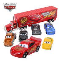 7 unids/set Disney Pixar coches 3 Mack tío camión de juguete coche de Rayo McQueen Jackson tormenta 1:55 Diecast juguete de modelo de coche regalo de los niños