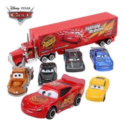 Машинки из мультфильма Disney Pixar «Тачки 3», 7 шт./компл., Набор игрушечных машинок «Дядя», Молния Маккуин, Джексон шторм, 1:55, литые модели машинок,...