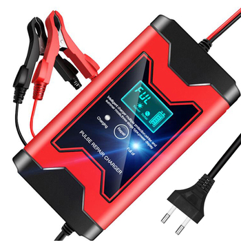12V 6A  Full Automatic Car Battery Charger Smart Power LCD Display Pulse Repair Chargers Wet Dry Lead Acid Battery-chargers 12v 8a lcd display battery charger pulse repair for car motorcycle wet lead acid