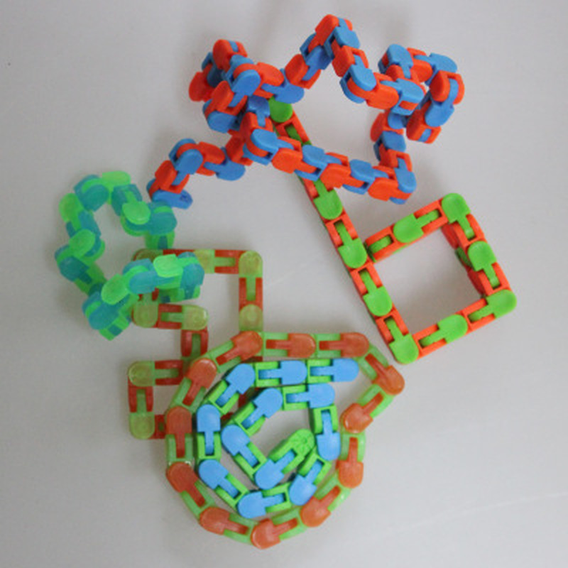 Sensory Toy Snap Autism Snake-Puzzles Wacky Tracks Click Fidget Kids Multicolor Classic img3
