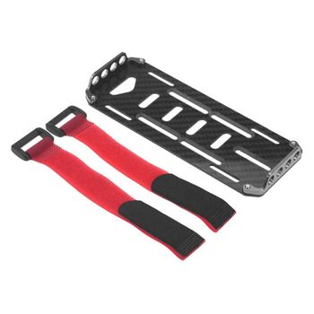 2020 New Drop Shop. Carbon Fiber Battery Mounting Plate Tray + Ties for 1/10 RC Car Axial SCX10 image