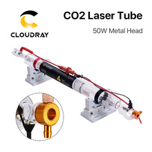 Cloudray Upgraded CO2 laser tube Metal Head 1000MM 50W Dia.50 Glass Pipe Lamp for CO2 Laser Engraving Cutting Machine