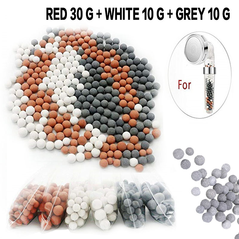 50g SPA Mineral Balls Water Filter Refill Stones Beads For Hand Held Shower Head Bathroom Replacing Water Purification Ball