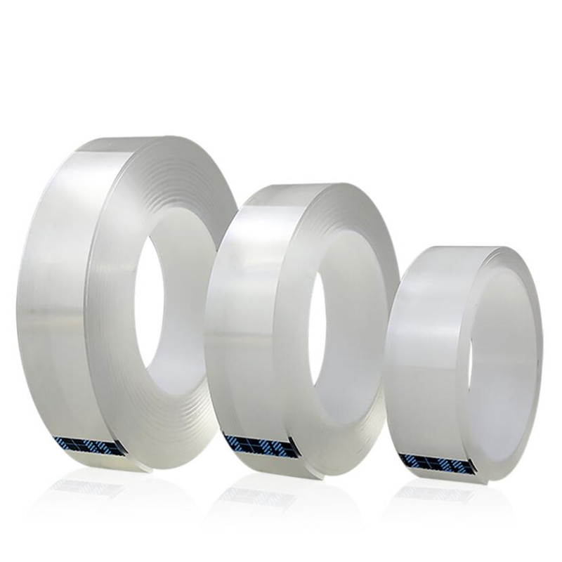 1M/2M/5M Nano Magic Tape Double Sided Tape Transparent No Trace Reusable Waterproof Adhesive Tape Cleanable Home gekkotape 5
