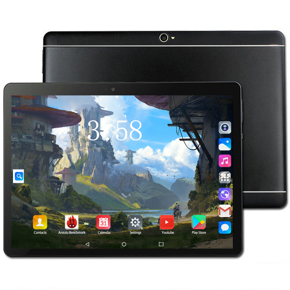 New 10 Inch Tablet Pc Octa 8 Core 128GB Tablets Android 8.0 WiFi Bluetooth GPS 3G 4G Phone Call Dual SIM 64GB Tab Tablet Holder