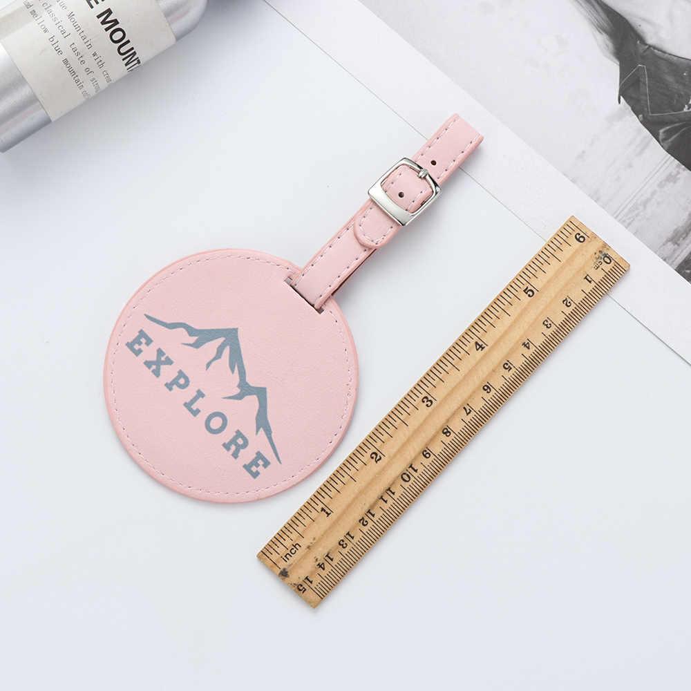 1 etiqueta para equipaje, etiqueta para bolso de cuero de estilo bordado con valijas redondas Mr & Mrs, etiqueta colgante para bolso, nombre de dirección de identificación, etiquetas para regalos, accesorios de viaje