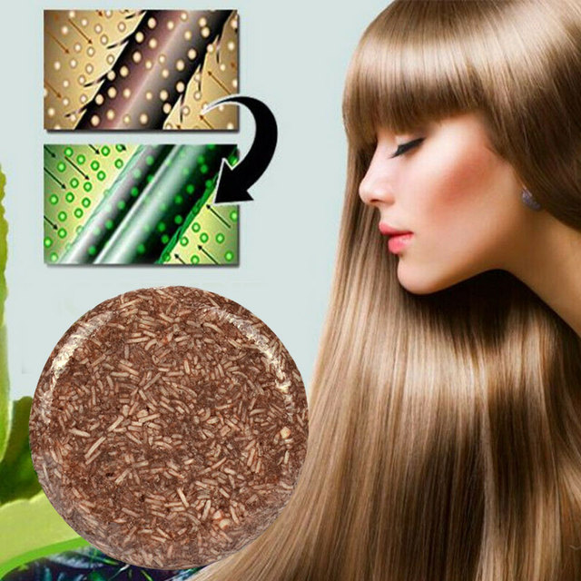 55g Handmade Shampoo Bar Hair Darkening Washing Repair Nourish Natural Soap It can help make your hair more black and smooth. 1