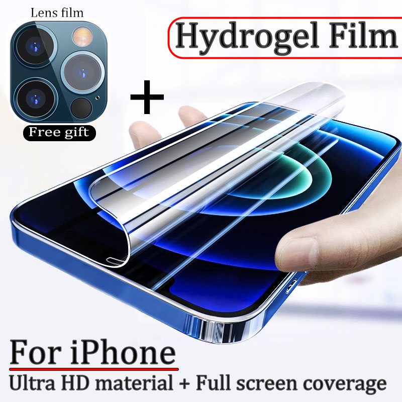 Гидрогелевая пленка для iPhone 12 Pro Max, защита экрана с полным покрытием для iPhone 11 Pro Max, X, XS, XR, 8, 7, 6S, 6 Plus, SE 2020, мягкая пленка