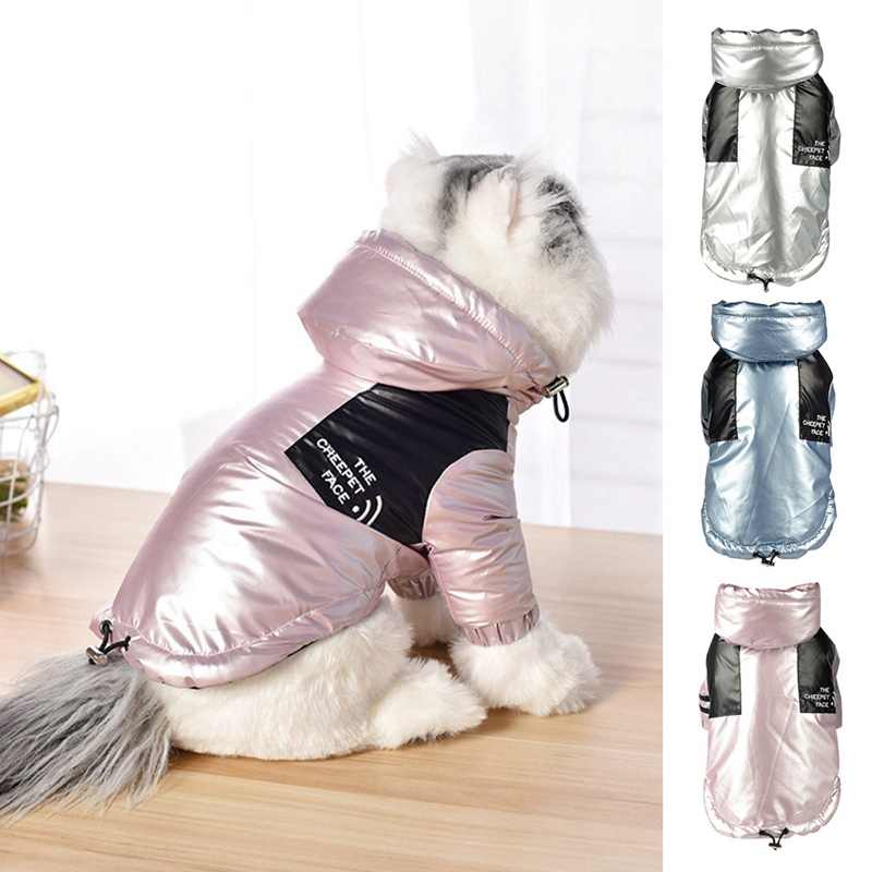 Pet Cat Thicken Warm Coat Hooded Windproof Trench Jacket For Puppy Dogs And Cats Reflective Clothes Outwear