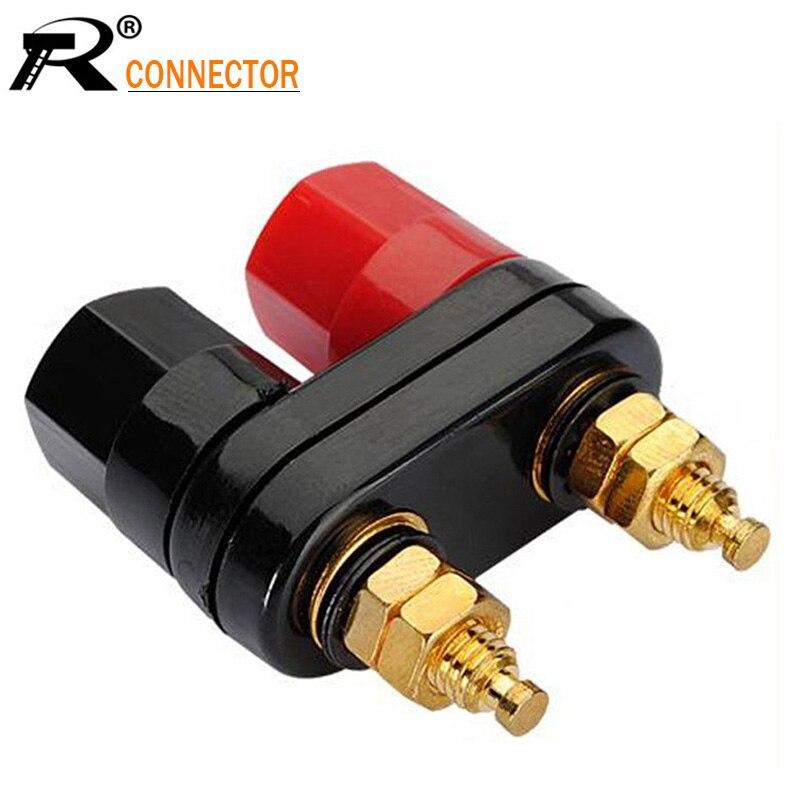 Qualidade de venda superior banana plugues casal terminais vermelho preto conector amplificador terminal ligação pós banana falante plug jack