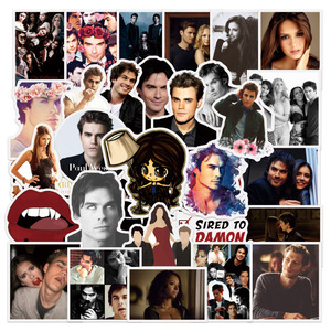 50Pcs Fantasy TV Series The Vampire Diaries Stickers for Toy Luggage Laptop Skateboard Scrapbook Mobile Phone Sticker