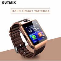 Reloj inteligente DZ09 para hombre y mujer, reloj inteligente resistente al agua, con bluetooth, cámara, tarjeta Sim y llamadas