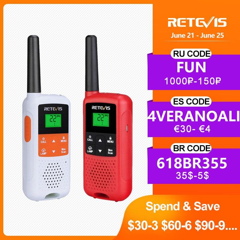 Retevis RT649B RT49B Walkie Talkie 2 pcs PMR446 Walkie-talkie Portable Two-way radio for Hunting Micro USB Charge VOX Mini Radio