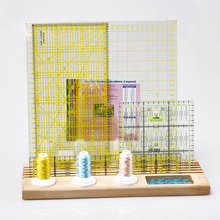 ACCESSORIES Tool Wooden Hardwood Padded Patchwork Ruler Rack