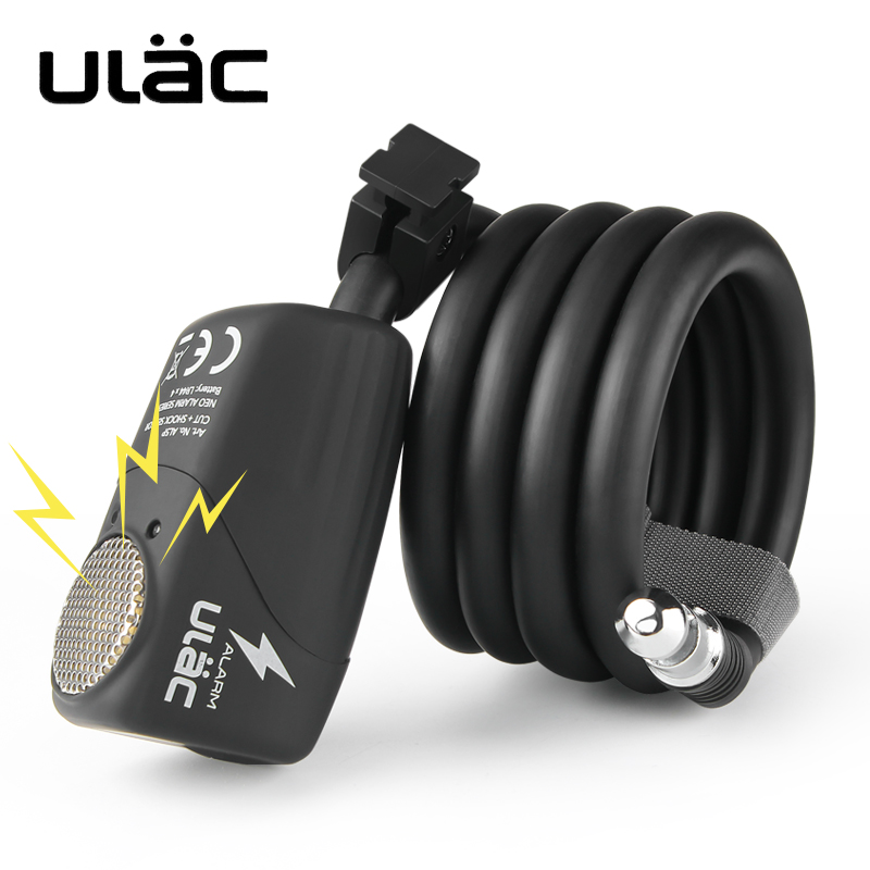 Anti-theft Bicycle Lock 110dB Alarm Steel Cable Lock For Motorcycle Security MTB Road Cycling Wire Lock Safety Bike Accessories