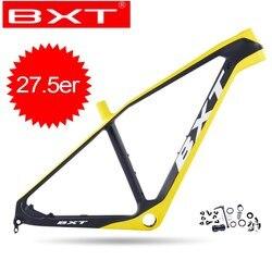 Nowy BXT węgla rowerów MTB ramki rama roweru górskiego 27.5er Ultralight przez oś MTB Hardtail ramki sztywne rama roweru części