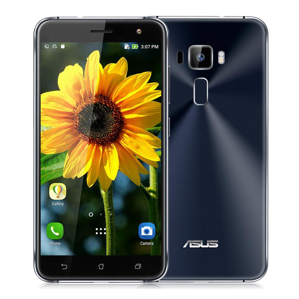 5,5 дюймов, ASUS Zenfone 3, FHD экран, Смартфон Snapdragon 625, четыре ядра, 4 Гб ОЗУ, 128 Гб ПЗУ, 16 МП, задняя камера, 3000 мА/ч, аккумулятор, телефон