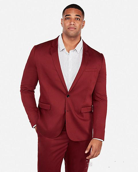 2019-dark-red-wedding-tuxedos-slim-fit-suits-for-men-groomsmen-suit-two-pieces-cheap-prom-formal-suits-(jacket-+pants) (2)