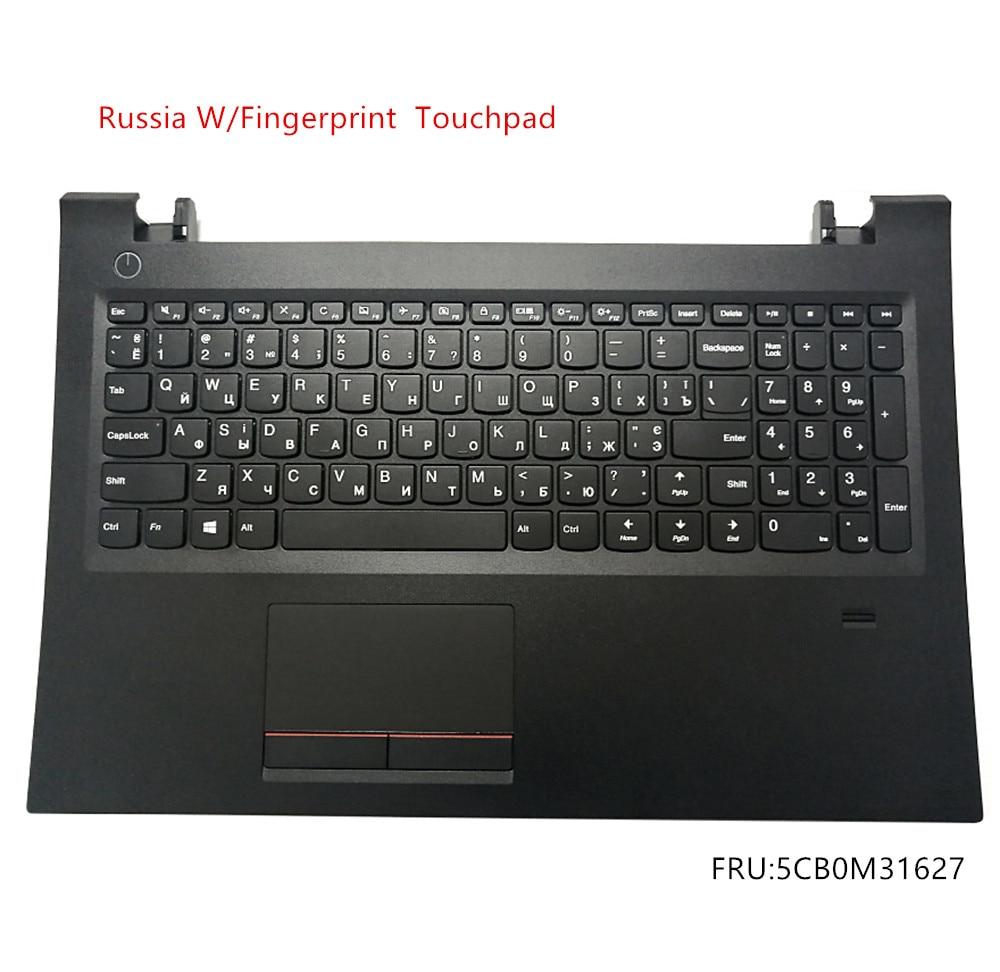 Russia New Original for Lenovo E52 E52-80 V510-15IKB Palmrest Cover Keyboard Bezel Upper Case Touchpad Fingerprint 5CB0M31627