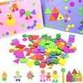 400/200 stücke Schaum Aufkleber Geometrie Puzzle Selbst-Klebe EVA Aufkleber Kinder Kinder Bildung DIY Montessori Spielzeug Für, Der Geschenk