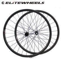 ELITEWHEELS 29 Cal MTB węglowe koła Novatec D411 prosto wyciągnąć piasty węglowe koła et 29er koła Mtb 30mm szerokość koło rowerowe