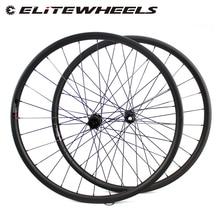 ELITEWHEELS 29 인치 MTB 카본 휠 Novatec D411 스트레이트 풀 허브 카본 휠셋 29er Mtb 휠 30mm 너비 자전거 휠