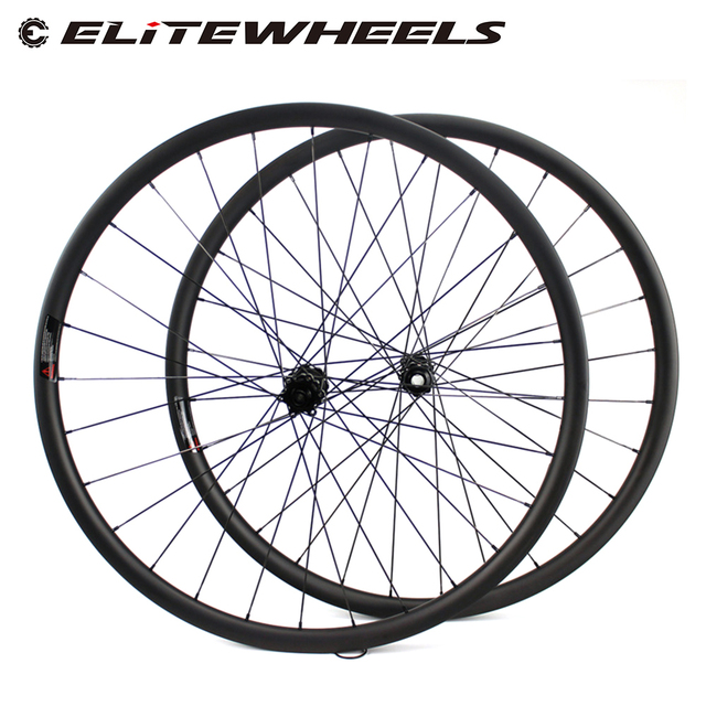 ELITEWHEELS 29 inç MTB karbon tekerlekler Novatec D411 düz çekme Hub karbon tekerlekler et 29er Mtb jantlar 30mm genişlik bisiklet tekerleği
