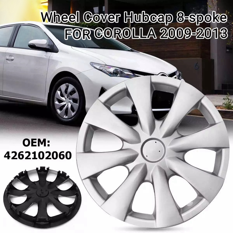 15 Inch Car Wheel Cover Hub Cap Replacement for Toyota Corolla 2009 2010 2011 2012 2013 4262102060 570-61147