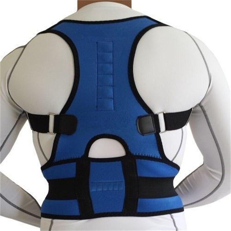 Магнитная терапия спины Опора коррекция осанки взрослых корсет плеча поясничного Корректор осанки бандаж позвоночника поддержка ремень|Брекеты и подставки| | АлиЭкспресс