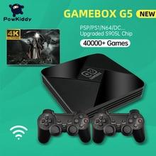 PowkiddyゲームボックスG5 S905L wifi 4 18k hdスーパーコンソール × 50 + エミュレータ40000 + ゲームレトロtvボックスビデオゲームプレーヤーPS1/N64/dc