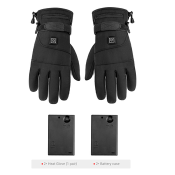 Waterproof Motorcycle Gloves Heated Guantes Moto Heating USB Hand Warmer Electric Thermal Heated Gloves Battery Powered Gloves 8