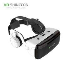 Capacete estereofônico do fone de ouvido do cartão de vr google dos vidros 3d da realidade virtual para o smartphone de ios android, rocker r57 de bluetooth