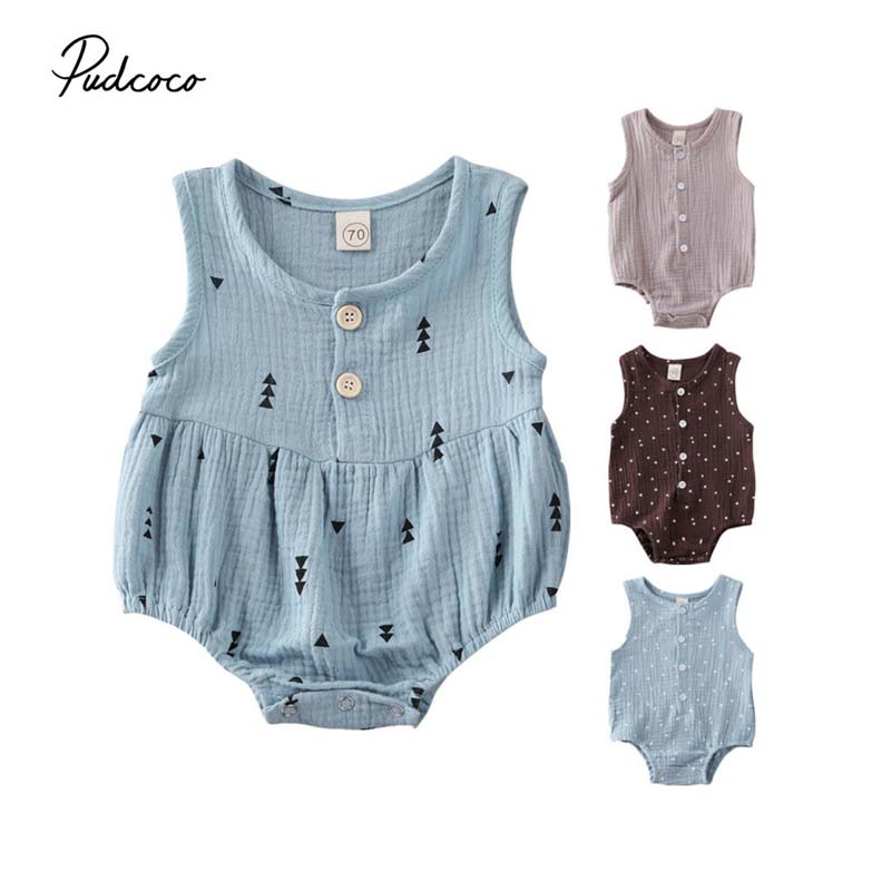 Infant Baby Girls Star Romper Bodysuit Sleeveless Jumpsuit Outfits Clothes
