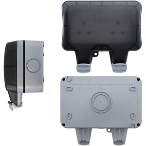 Image 4 - Electrical Wall Socket Waterproof Outdoor 13Amp Storm Switched 2 Gang UK  IP66 Outside Use Masterplug  Double Outlets