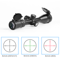 Tactical 3 12x44 Riflescopes Hunting Red Green Reticle Sniper Scope for Gun ar 15 ak 47