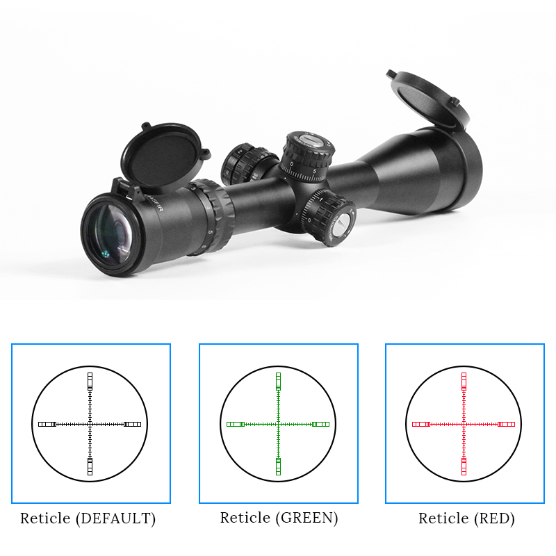 Tactical 3-12x44 Riflescopes Hunting Red Green Reticle Sniper Scope for Gun ar 15 ak 47 image
