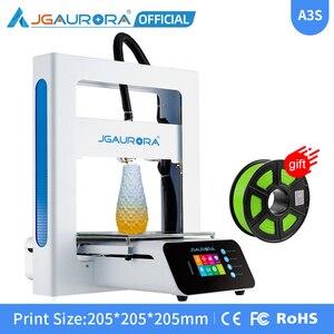JGAURORA zaktualizowano A3S 3D drukarki Diy zestaw druku z karty SD wysokiej Percision wznowić włókna do drukowania czujnik detektora zasilania
