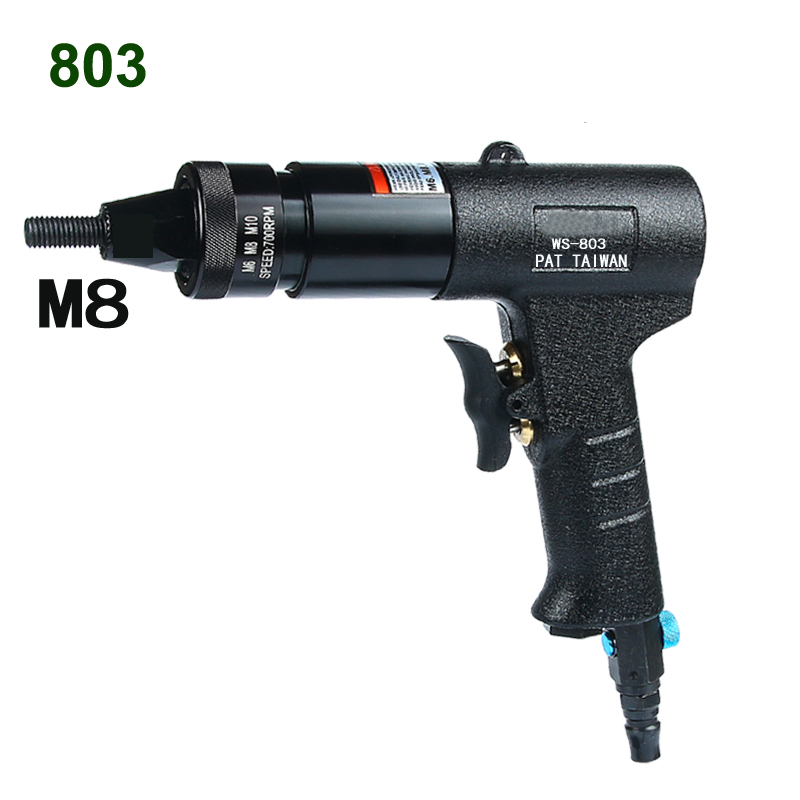 Pneumatic Rivet Nut Gun Pull Cap Gun M3-M12 Automatic Rivet Tool Machine Ram Clamp Rivet Gun Pneumatic Air Rivets Nut Gun
