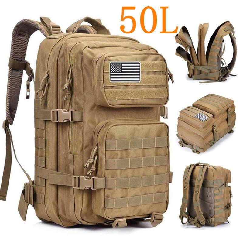 50L Large Capacity Men Army Military Tactical Backpack 3P Softback Outdoor Hiking Camping Rucksack Hunting camping travel bag|Climbing Bags| - AliExpress