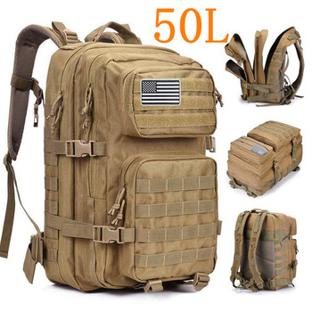 50L Large Capacity Men Army Military Tactical Backpack 3P Softback Outdoor Hiking Camping Rucksack Hunting camping travel bag army military tactical rucksack hiking camping bag backpack for outdoor hunting travel