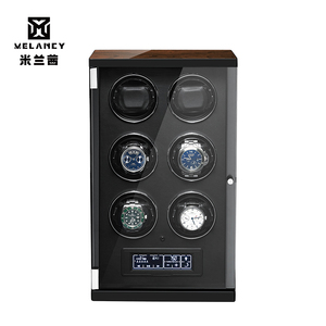 Image 3 - New Wood Watch Winder For Watches Black Piano Paint Automatic Self Watch Winders Wooden And PU Leather Watch Accessories