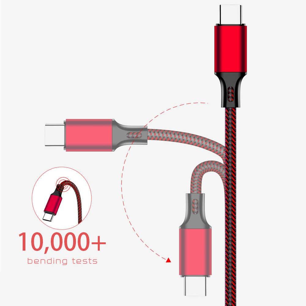 Rez USB Tipe C Kabel untuk TYPE A UNTUK SONY Red Cepat Pengisian Kabel USB Tipe-C Kabel USB data Kawat untuk Samsung USB-C Провод Кабель