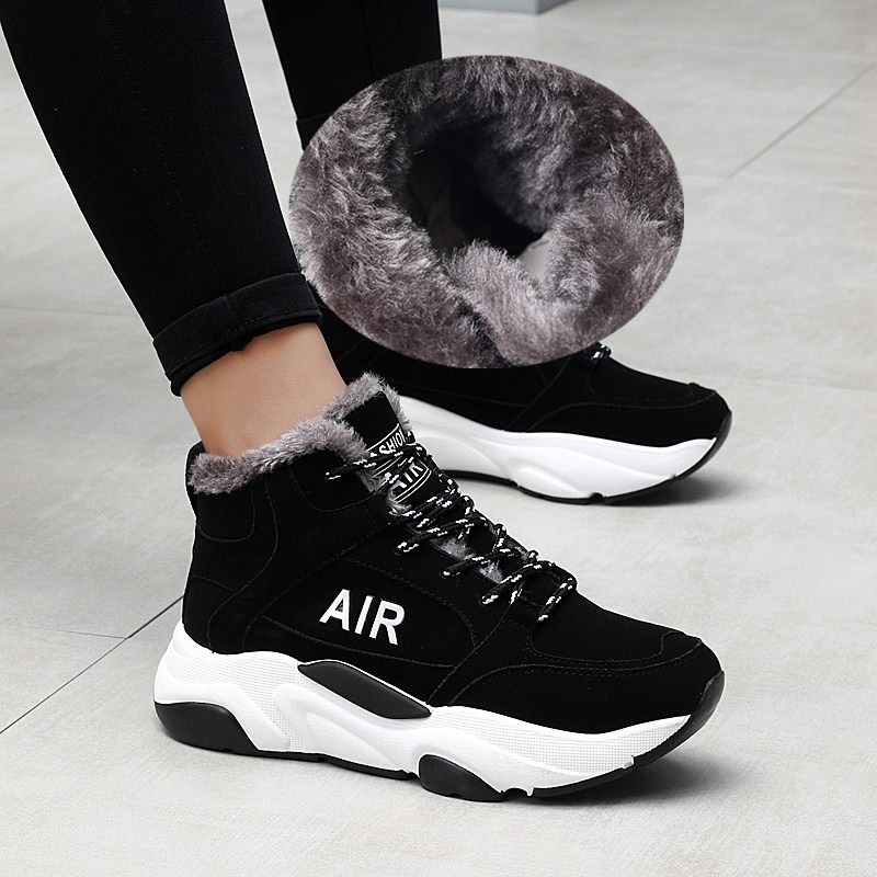 Women's Boots Comfortable Warm Sneakers Winter High Quatily Sports Trend Running Shoes Outdoor Jogging Shoes Zapatillas Muier