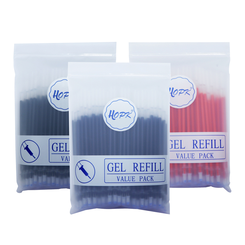 100 Teile/los Büro Gel Stift Refill Set 0,5mm/0,38mm Blau Schwarz Rot tinte Stange Kugel/Nadel spitze Stift Refill Schule Schriftlich Schreibwaren
